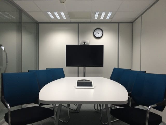 Conference room with video sharing.