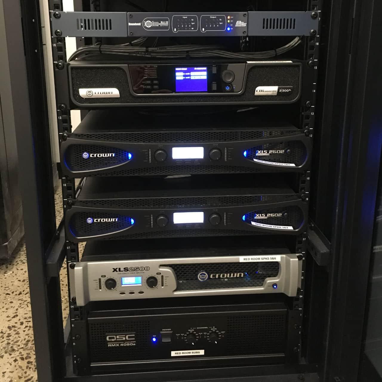 Installed AV rack