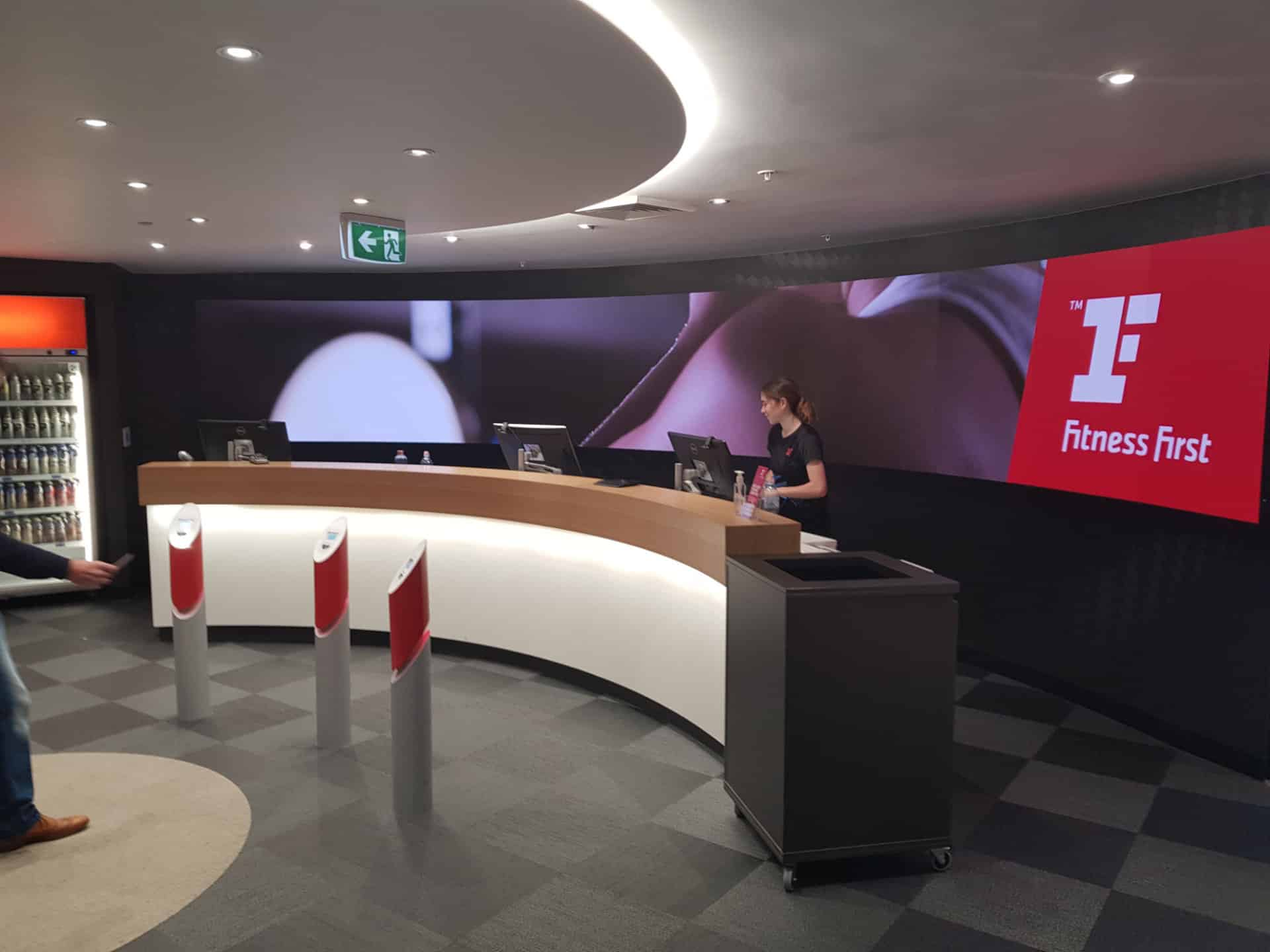 Curved video wall