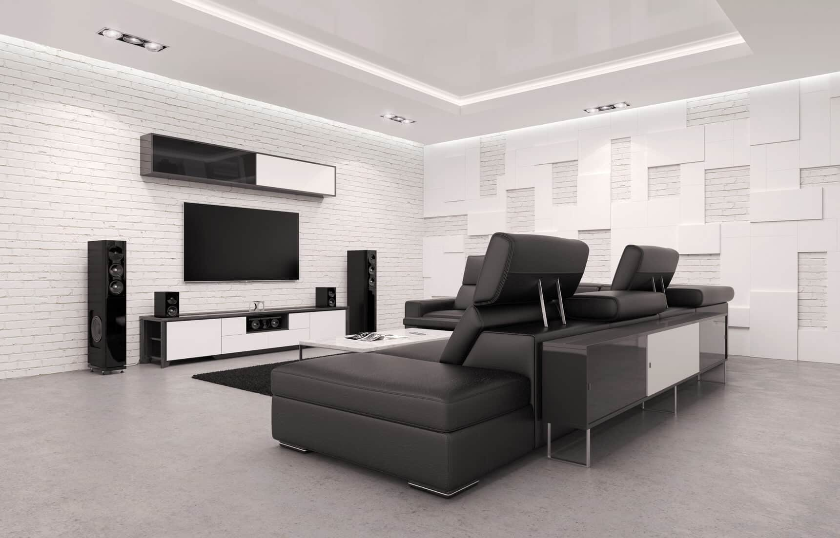 TV screen and speakers