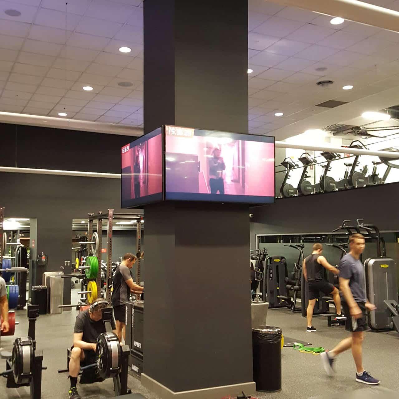 TVs around column